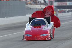 Gary Densham deploys the parachutes aboard his Densham Motorsports Dodge Charger