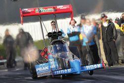 T. J.. Zizzo in de Peak Performance Top Fuel Dragster