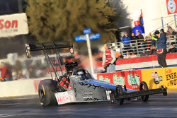 Bob Vandergriff aboard his C&J Energy Services Top Fuel Dragster