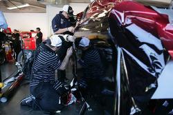New wrap on the car of Jeff Gordon, Hendrick Motorsports Chevrolet