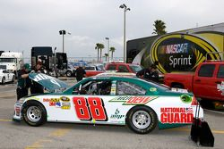 The backup car of Dale Earnhardt Jr., Hendrick Motorsports Chevrolet is at tech inspection