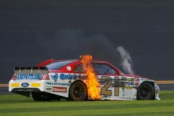 Trevor Bayne, Wood Brothers Racing Ford crash