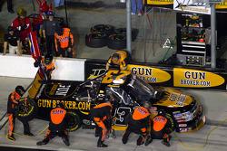 Pit stop for Jason White, Joe Denette Motorsports Chevrolet