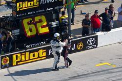 Brad Keselowski, Penske Racing Dodge after his crash