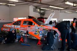 Damaged car of Jamie McMurray, Earnhardt Ganassi Racing Chevrolet