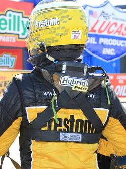Spenser Massey exiting his Fram / Prestone Top Fuel dragster