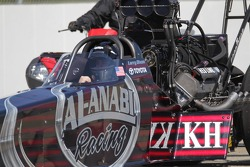 Larry Dixon in his Al-Annabi Racing Top Fuel Dragster