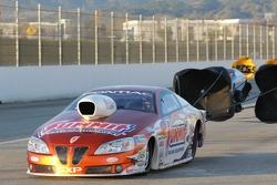 Jason Line's Summit Racing Equipment Pontiac GXP coasting to a stop after defeating Greg Stanfield i