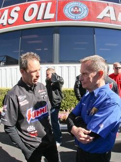 Greg Anderson en John Jodauga - Associate Editor National Dragster