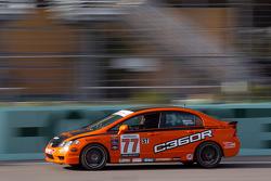 #77 Compass360 Racing Honda Civic SI: Andrew Novich, Benoit Theetge