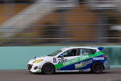 #28 Freedom Autosport Mazda Speed 3: Sam Barnett, Bruce Ledoux
