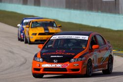 #74 Compass360 Racing Honda Civic SI: Zach Lutz, David Thilenius