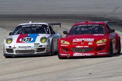 #59 Brumos Racing Porsche GT3: Andrew Davis, Leh Keen, #30 Racers Edge Motorsports Mazda RX-8: Jan H