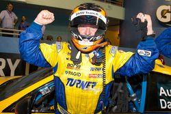 Victory lane: race winner Bill Auberlen celebrates
