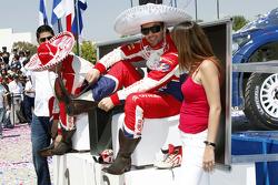 Podio: Sébastien Loeb y Daniel Elena, Citroën DS3 WRC, Citroën Total World Rally Team
