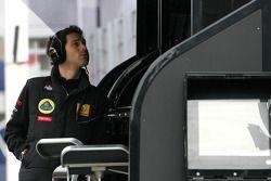 Бруно Сенна, тестовый пилот Lotus Renault F1 Team