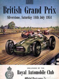 Poster: GP Großbritannien 1951 in Silverstone