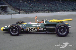 Jim Clark posed with car