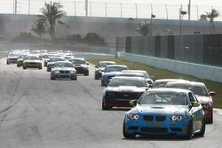 #13 Rum Bum Racing BMW M3 Coupe: Nick Longhi, Matt Plumb leads the GS field on Lap 3