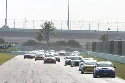 #31 i-MOTO Mazda Speed 3: Mark Pombo, Mathew Pombo leads the ST field on Lap 1