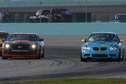 #9 Stevenson Motorsports Camaro GS.R: Matt Bell, John Edwards and #13 Rum Bum Racing BMW M3 Coupe: Nick Longhi, Matt Plumb battle for the lead