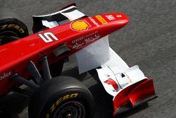 Aileron avant de la Ferrari