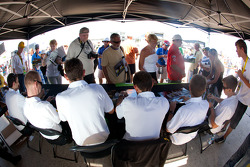 Corvette Racing drivers at the autograph session