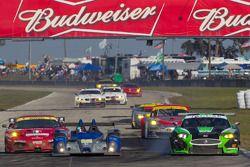 #006 Core Autosport Oreca FLM09: Gunnar Jeannette, Ricardo Gonzalez, Rudy Junco, 09 , #098 Jaguar RS