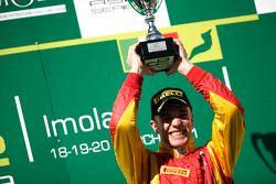 Podium: race winner Dani Clos