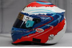 Le casque de Vitaly Petrov, Lotus Renault F1 Team