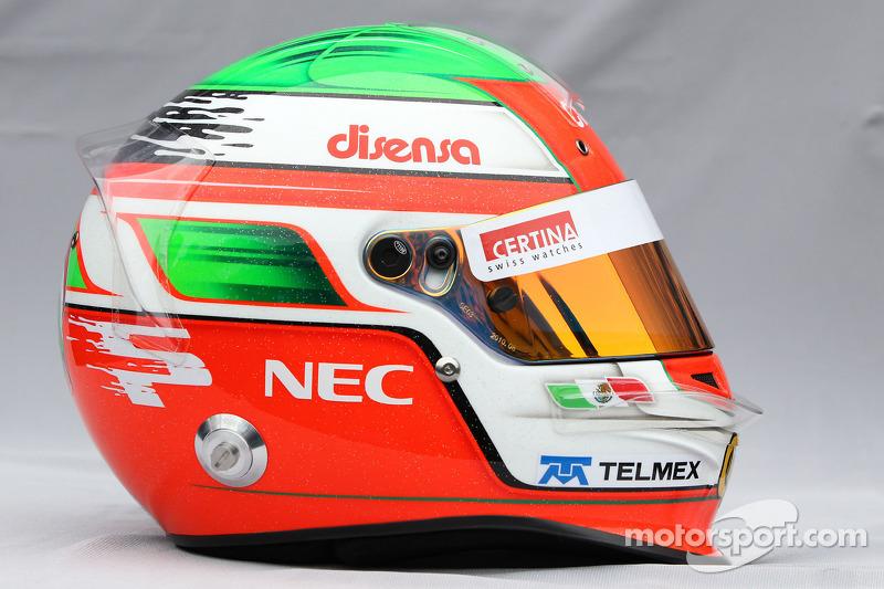Casco de Sergio Pérez, Sauber F1 Team 2011