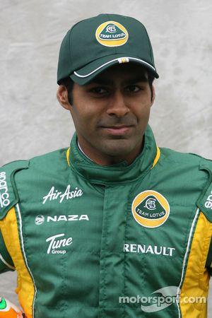 Karun Chandhok, Test Pilotu, Team Lotus