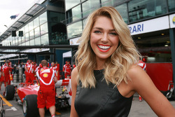A girl in the pit lane