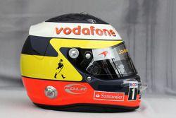 Helmet of Pedro de la Rosa, test driver, McLaren Mercedes