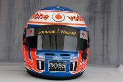 Helmet of Jenson Button, McLaren Mercedes