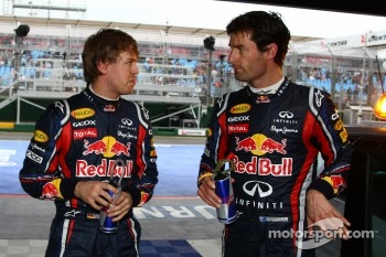 Webber and Vettel fastest in first practice session