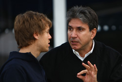 Sebastian Vettel, Red Bull Racing and Pasquale Lattuneddu, FOM, Formula One Management