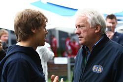 Sebastian Vettel, Red Bull Racing with Charlie Whiting, FIA Safety delegate, Race director & offical starter