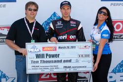Pole winner Will Power, Team Penske