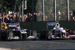 Rubens Barrichello, Williams F1 Team ve Sergio Perez, Sauber F1 Team