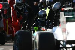 Michael Schumacher, Mercedes GP Petronas F1 Team pit stop