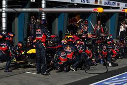 L'arrêt de Mark Webber, Red Bull Racing