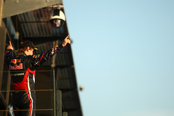 Podium: first place Sebastian Vettel, Red Bull Racing