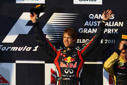 Podium: first place Sebastian Vettel, Red Bull Racing