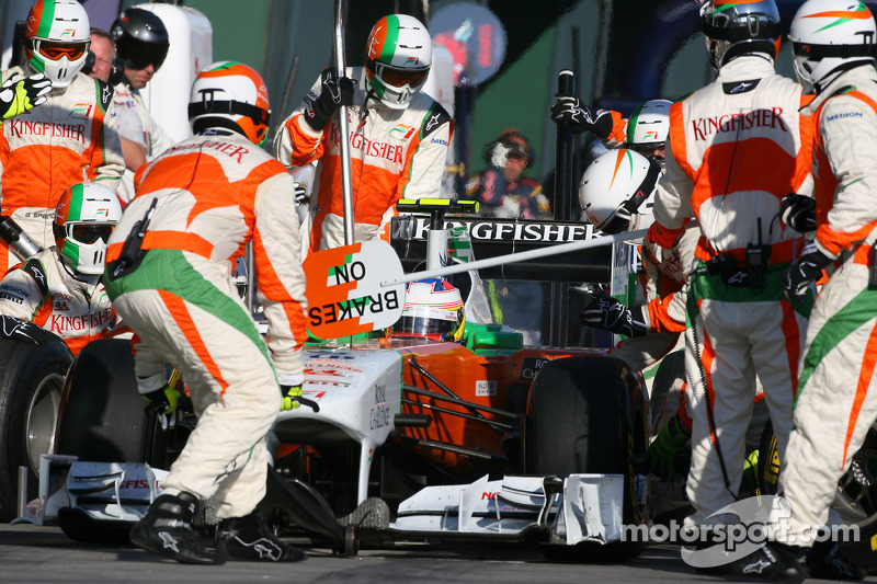 Parada de pits de Paul di Resta, Force India F1 Team