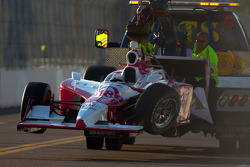 Damaged car of James Jakes, Dale Coyne Racing
