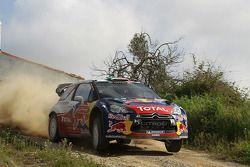 Sébastien Ogier en Julien Ingrassia, Citroen DS3 WRC, Citroen Total World Rally Team