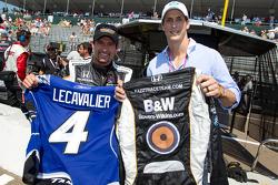 Alex Tagliani, Sam Schmidt Motorsports and Grand Marshal Vincent Lecavalier, captain of the Tampa Ba