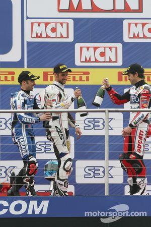 Marco Melandri, Jakub Smrz & Carlos Checa on the podium