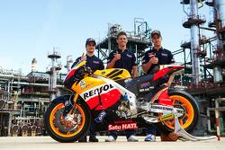 Dani Pedrosa, Casey Stoner et Andrea Dovizioso